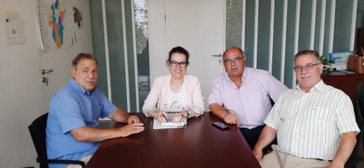 La delegada provincial de Sanidad en Toledo se reúne con la Asociación de Vecinos de Santa Bárbara