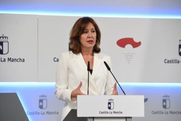 Rueda de prensa de la portavoz del Gobierno regional, Blanca Fernández (I)