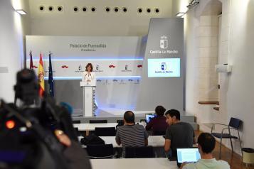 Rueda de prensa de la portavoz del Gobierno regional, Blanca Fernández (IV)