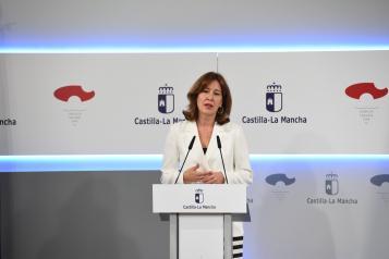 Rueda de prensa de la portavoz del Gobierno regional, Blanca Fernández (II)