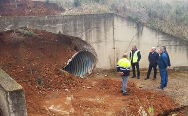 El director general de Carreteras visita la-CM-415 cuyas obras de reparación se han puesto ya en marcha