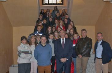 El Gobierno de Castilla-La Mancha recibe al alumnado del colegio 'Antoine de Saint Exupery' de la localidad francesa de Pouzauges