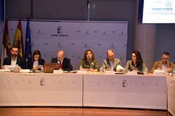 La consejera de Economía, Empresas y Empleo, Patricia Franco, preside la sexta Comisión de Seguimiento del Pacto por la Recuperación Económica en Castilla-La Mancha
