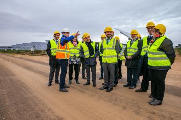 Inauguración nueva planta fotovoltaica en Alcázar de San Juan