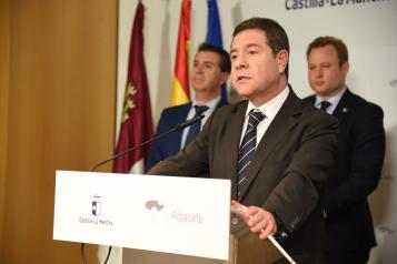 Rueda de prensa sobre la reunión de la Comisión de Seguimiento de las Obras del Hospital de Albacete (III)
