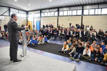 Inauguración del pabellón polideportivo del Colegio de Educación Infantil y Primaria 'Parque de La Muñeca'