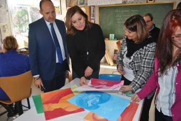 Visita de la Escuela de Artes y el Museo Ruiz de Talavera de la Reina