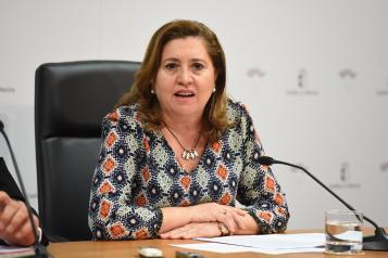 La consejera de Educación, Cultura y Deportes, Rosa Ana Rodríguez, ofrece una rueda de prensa en la que informará sobre la celebración del Congreso 'Exducere' (II)