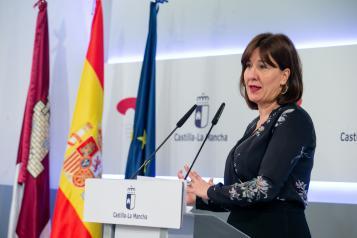 La consejera de Igualdad y portavoz del Gobierno regional, Blanca Fernández, comparece para informar sobre los acuerdos del Consejo de Gobierno (I)