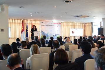 La consejera de Economía, Empresas y Empleo, Patricia Franco, interviene en el desayuno empresarial 'Castilla-La Mancha, epicentro de la nueva economía'