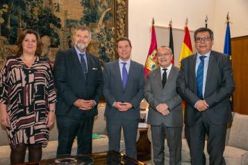 Recibe a los embajadores de Francia y Alemania en España, Jean-Michel Casa y Wolfgang Dold