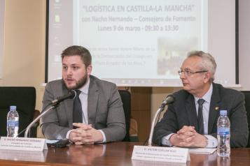 Nacho Hernando inaugura la 'Jornada sobre logística en Castilla-La Mancha'