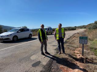 El Gobierno regional avanza en el compromiso del acondicionamiento de la carretera de la CM-3202 entre Albaladejo y Villanueva de la Fuente