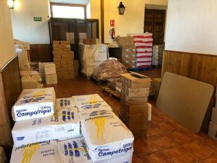 El Gobierno regional impulsa un proyecto para que más de 15 toneladas de alimentos lleguen a 1.600 familias vulnerables de La Sagra toledana