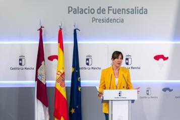 La consejera de igualdad y portavoz del Gobierno regional comparece en rueda de prensa