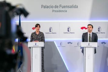 Consejo de Gobierno en el Palacio de Fuensalida (26 de mayo) (Portavoz) (II)