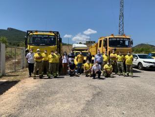 Visita al retén Letur-Férez del Plan Infocam en la provincia de Albacete