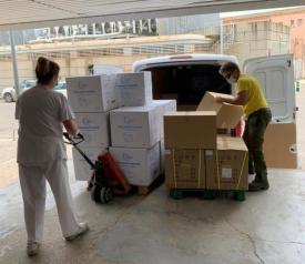 Nuevo envío de material de protección sanitaria en las gerencias de Albacete