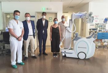 El Gobierno de Castilla-La Mancha refuerza la capacidad diagnóstica del Hospital de Tomelloso con un nuevo equipo de radiología portátil