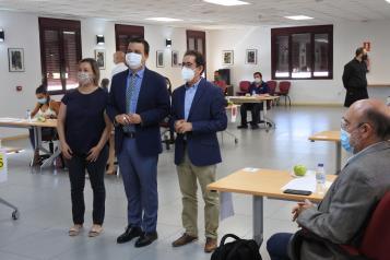 El consejero de Agricultura, Agua y Desarrollo Rural asiste a las catas a ciegas de los Premios Gran Selección 2020 en la categoría de queso manchego
