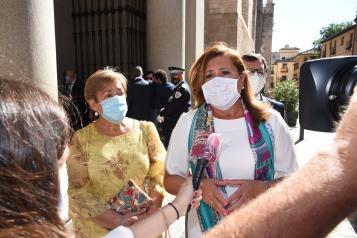 La consejera de Educación, Cultura y Deportes, Rosa Ana Rodríguez, asiste, a la Misa Pontifical y a los actos conmemorativos de la festividad de la Virgen del Sagrario