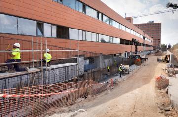 Las obras de ampliación del Hospital Universitario de Guadalajara, a menos de un 15 por ciento para su finalización