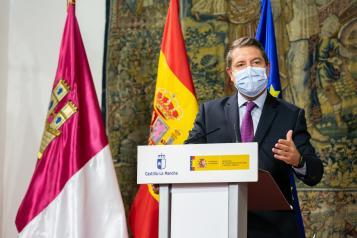 Rueda de prensa del presidente García-Page junto al ministro de Transportes, Movilidad y Agenda Urbana