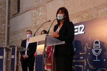 La consejera de Igualdad y portavoz del Gobierno regional, Blanca Fernández, asiste a la XVII Edición de los Premios Comunicación 2020 'Una edición singular, en un año singular', que otorga la Cadena SER