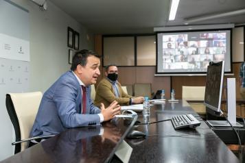 El consejero de Agricultura, Agua y Desarrollo Rural, Francisco Martínez Arroyo, clausura, por videoconferencia, el acto de presentación del proyecto de cooperación interterritorial 'Ecoturismo en la Red Natural 2000 en Castilla-La Mancha'