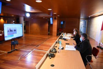 La consejera de Bienestar Social, Aurelia Sánchez, participa, por videoconferencia, en el acto conmemorativo del Día Internacional contra la Pobreza organizado por las Cortes regionales
