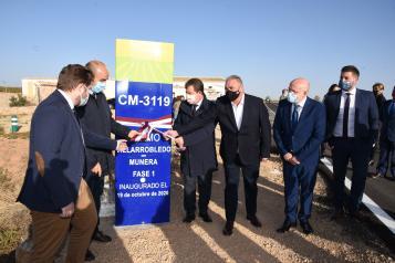 Inauguración del refuerzo del firme de la Carretera CM-3119 (Fomento)