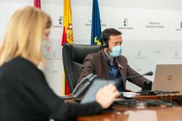 El consejero de Desarrollo Sostenible, José Luis Escudero, participa telemáticamente en la 'Semana Europea de las Regiones' y presenta las actividades en Castilla-La Mancha de la Semana Verde Europea.
