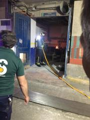 La rápida intervención del personal de mantenimiento permite sofocar en poco tiempo un conato de incendio originado en una sala de máquinas del Hospital Virgen de la Salud