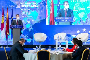 García-Page en la clausura de los Encuentros Empresariales en Albacete