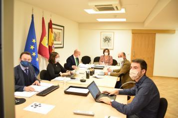 La consejera de Economía, Empresas y Empleo, Patricia Franco, preside la reunión del Consejo de Administración del Instituto de Finanzas de Castilla-La Mancha.