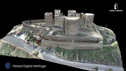 El modelo en 3D del Castillo de Consuegra pasa a formar parte del selecto grupo de modelos tridimensionales más espectaculares