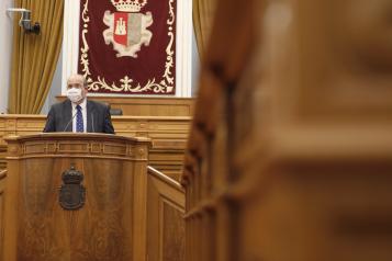 El vicepresidente de Castilla-La Mancha, José Luis Martínez Guijarro, interviene en el Debate General relativo a los Fondos Europeos de Recuperación COVID-19 y su incidencia en Castilla-La Mancha