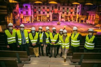Visita a las obras de ampliación del Parque 'Puy du Fou España'