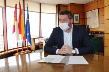 El delegado provincial de Fomento, Julen Sánchez tras regularizar transporte por carretera Corredor de Almansa