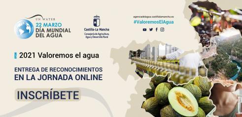 Castilla-La Mancha celebra el Día Mundial del Agua el próximo lunes 22 de marzo de manera virtual, bajo el lema 'Valoremos el agua'