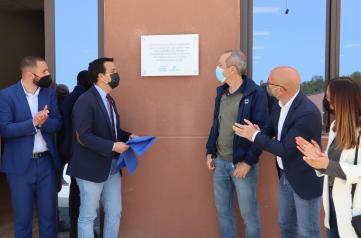 El consejero de Agricultura, Agua y Desarrollo Rural visita las obras de mejora de suministro de agua del polígono industrial y ganadero de Letur