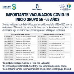 Vacunación de 56 a 65 años en Albacete