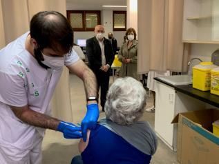 Vacunación frente al COVID en la Gerencia de Atención Integrada de Almansa
