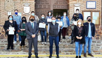 Ocho jóvenes de Moral de Calatrava se forman en técnicas de albañilería con un taller de empleo sufragado por el Gobierno de Castilla-La Mancha
