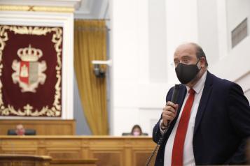 El vicepresidente del Gobierno regional interviene en las Cortes Castilla-La Mancha
