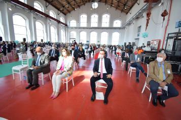 La consejera de Economía, Empresas y Empleo, Patricia Franco, y el consejero de Desarrollo Sostenible, José Luis Escudero, participan en el acto 'Puertollano, Hub del hidrógeno verde'