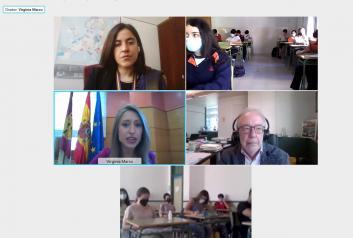 El Gobierno de Castilla-La Mancha participa en una visita virtual al Comité de las Regiones destinada al alumnado de la región