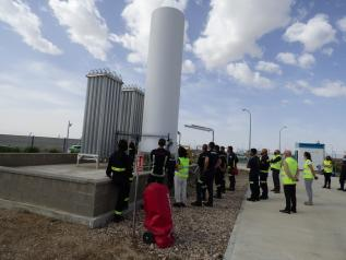 Una veintena de bomberos de la Comunidad Autónoma participan en el curso sobre intervención con mercancías peligrosas y gases licuados