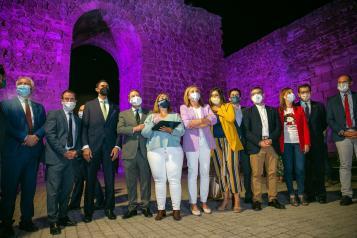 Inauguración de la iluminación artística de la muralla de Talavera de la Reina