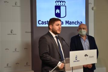 El consejero de Fomento, Nacho Hernando, informa sobre asuntos del Consejo de Gobierno relativos a su departamento en Albacete